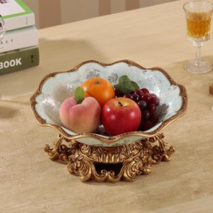 Luxury European Ceramic Fruit Plate Are Living Room Decoration Personality Home Furnishing Candy Dish Dry Ice Buckets And Coolers