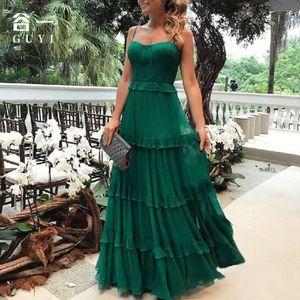 Vestidos de fiesta Guyi Verano Moda de mujer sin mangas pequeña gancho sling vestido de noche