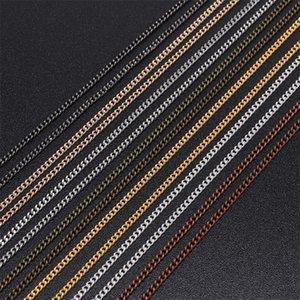 5 m / lot 1.3 1,6 2.0 2,5 mm Gold Halskette Ketten für Schmuckzubehör Machen materialien handgefertigte lieferung zubehör DIY 807 T2