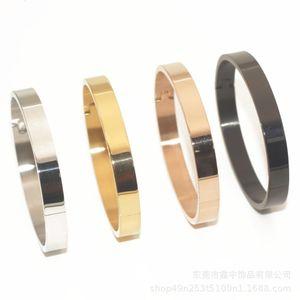 Necklace Fashion cardia open titanium steel bracelet for female lovers