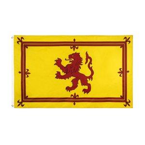 Royal Scottish Lion Flag 90x150cm جودة عالية الجملة البوليستر الطباعة أعلام اسكتلندا تحلق معلقة مع اثنين من الحلقات
