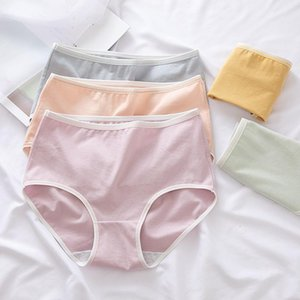 Women Sexy Lingerie Thong Cotton Underwear Femmes Briefs Intimate Pants Ladies High Waist Breathable Seamless Panties Women's