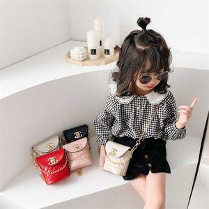 Christmas Candy Colors Children's Messenger Bag Fashion Korean Kids Grils Mini Princess Chain Bags Portable Wallet Crossbody Pack Handbag G96FIRE