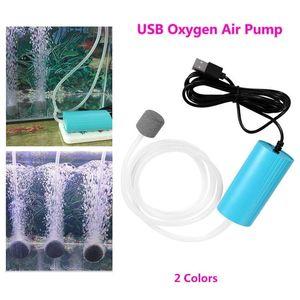 Mini Portable USB Oxygen Pump Silent Aquarium Air For Fish Bowl Outdoor Fishing Use Tank Accessories Pumps &