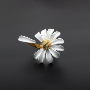 Wedding Rings Korea Daisy Small Flower Open For Women White Paint Ring Fashion Jewelry Gifts