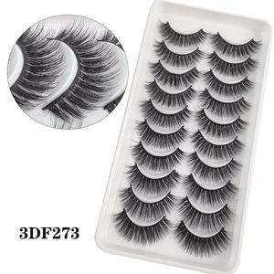 10Pairs 3D Faux Mink Eyelashes 100% Handmade Natural Soft Full Strip Eyelash Extension Fake Lashes Makeup 10 Style