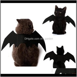 Supplies Home Garden Drop Delivery 2021 Costumes Bat Wings Vampire Black Cute Fancy Dress Up Clothes Halloween Decor Thicken Pet Dog Cat Cost