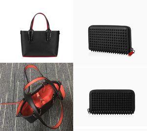 Женщины Luxurys модные сумки дизайнерские сумки заклепки натуральная кожаная сумка композитный известный кошелек вечерние сумки кошельки + сумка 2PIC
