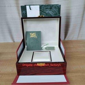 Venda quente Qualidade superior AP Royal Oak Offshore Relógios Caixas Original Papers Vermelho Caixa de madeira Bolsa 20mm x 16mm para 15400 15710 15500 15202 26320 Assista relógios de pulso