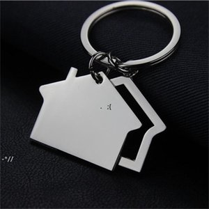 NEWCreative House Shaped Keychains Metal Keyrings house Design car Key Chain Key Fashion Accesories Pendant Key Holder RRB10956