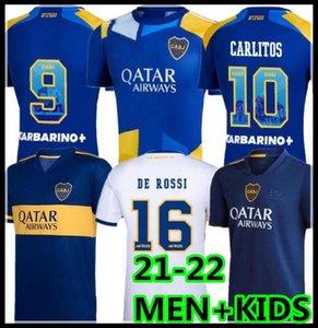 22 22 Boca Juniors 축구 유니폼 Salvio 115 주년 기념 Maradona Tevez 2021 2022 Fabra Carlos Camiseta Futbol 축구 셔츠 남성 + 아이들 유니폼