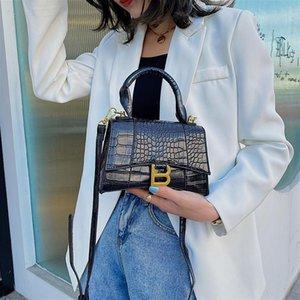 Designer Luxus Top-Griff Tote Frauen Alligator Leder Sanduhr Schultertasche Mädchen Marke B Metall Crossbody Taschen Weiblich