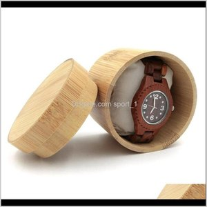 Boxes Bins Housekeeping Organization Home Garden Drop Delivery 2021 Natural Bamboo For Watches Jewelry Wooden Box Men Wristwatch Holder Colle