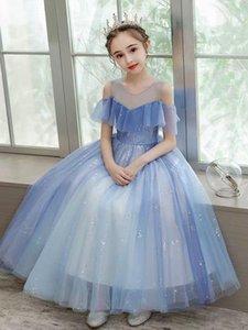 Tulle Pretty Flower Girl Dresses vestidos lace Baby Infant Dress Kids Formal Wear Jewel