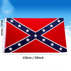 3x5 FT Two Sides Printed Flag Confederate Rebel Flags Civil War Rebel Flag Polyester National Flags Banners Customizable DBC BH2687