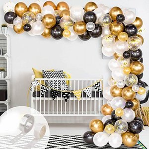 120pcs Wedding Decorations Golden Confetti Balloons Latex Metallic Balloon for Christmas Biethday Baby Shower Party Decor