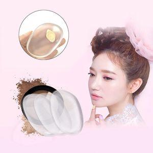 Caucho de silicona Maquillaje Herramientas de limpieza de cara Sin impecación Liso Maquillaje Polvo Puff Cosmético Silica Gel Jelly Body Powders Aplicadores y Contenedor