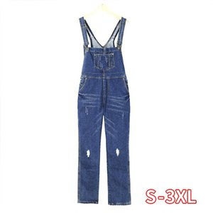 Women's Jumpsuits & Rompers Fashion Loose Jeans Female Women Denim Jumpsuit Ladies Spring Casual Plus Size Overall Playsuit With Pocket