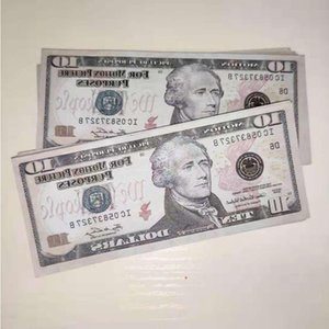 Gifts Banknote Movie Games Money Fake Collection 10 Dollars Party Prop Hot Bar US Sales Dollar 38 Crbef