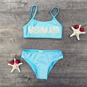 Kids 2 Pieces Swimwear Girls Sequined Hot Gold Bathing Sets Kid Swimming Suit Children Bikinis Baby Set New Biquini Infantil 1439 Z2