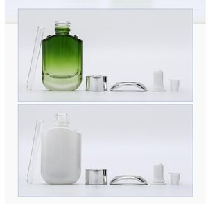 30ML White Green Glass Dropper Bottle Empty Perfume Sample Tubes Essential Oil Reagent Refillable Bottle GGA4637