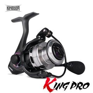 Reino King Pro Spinning Reels 5.2: 1 9 + 1BB Bloque de diapositivas de doble cojinete 7-11 kg Fuerza de arrastre Peso ligero Peso de alta calidad Carretes de pesca 201125