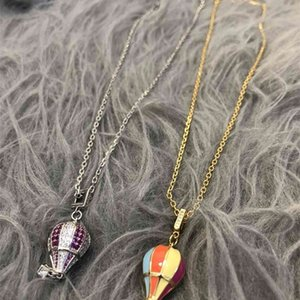 D family brass CD Necklace women's little exaggerated hip hop punk style neck chain temperament women's chain small 1q
