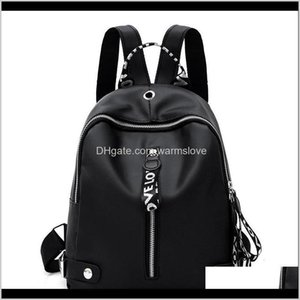 Sport Bags Black White Ribbon Backpacks School Women Fashion Backpack Korean Version Academic Style Zipper Knapsack Bag Soft Surface 1 Bhcdt