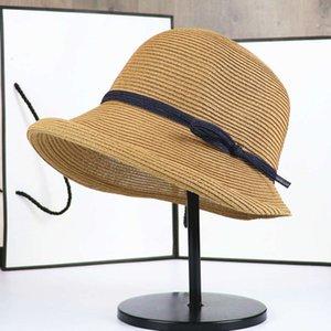 Şapka Kapaklar Hepburn Gölge Saman kadın Katlanabilir Havzası Edebi Balıkçı Basit Güneş Casual Şapka