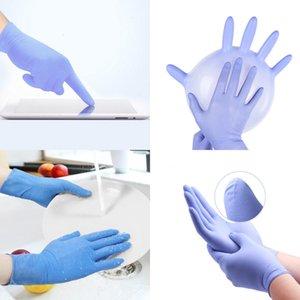 Голубая фабрика Оптовая Фиолетовая Нитрильная перчатка в запасах Склад Бесплатная доставка через FedEx UPS 100 шт. Пакет на продажу WP53