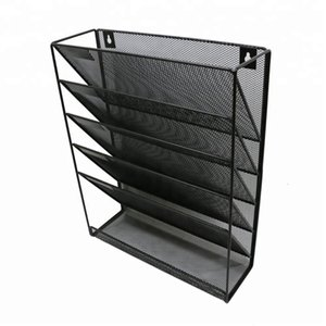 China wholesales supplier manufacturer Office supply space saving powder coated desk wire mesh metal hanging wall file organizer