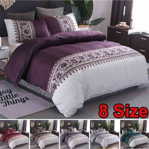 Fashion 2 or 3pcs Bedding Set Orchid Flowers Duvet Sets with Zipper Closure 1 Quilt Cover + 1 2 Pillowcases US EU AU Size