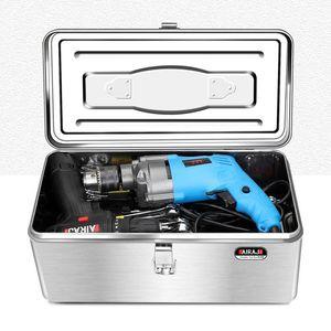Tool Organizers Stainless Steel Tools Box Portable Suitcase Professional Multifunction Caja De Herramientas Home Storage DE50GJ