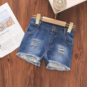 Shorts Girls' Denim Children's Clothing For Girls Casual Hole All-match Pants