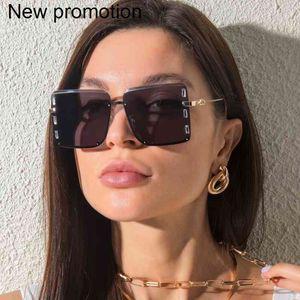 Onevan Oversized 2021 Diamond-Studded Square Sunglass Shades Vintage para las mujeres Gafas de Solless