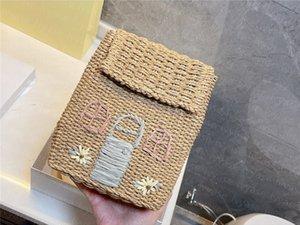 Lady Summer Beach Bag Women Linen cord Straw Bags novel Cool Flower Holiday knapsac khandcrafted bolsa