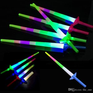 Telescopic LED Glow Stick Flash Light Toy Fluorescent Sword Concert Christmas Carnival Toys LED Light Sticks Luminous Sticks 4 section
