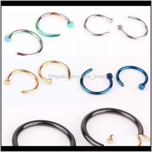 Rings & Studs Jewelry Drop Delivery 2021 Five Colors Titanium Punk Clip On Fake Piercing Body Unisex Nose Ring For Women Jp1Th
