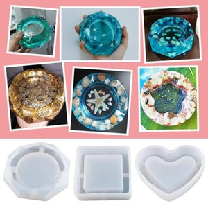 Craft Tools 2 3PCS DIY Silicone Molds Resin Epoxy Casting Art Jewelry Soap Candle Holder Ashtray Tool Q40