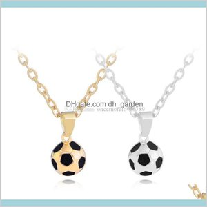 Necklaces Pendants Drop Delivery 2021 Football Soccer Chic Necklace Charm Pendant Sports Team Ball Player Sweater Chain Jewelry Boys Christma