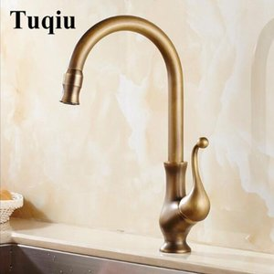 Kitchen Faucets 360 Swivel Antique Bronze Brass And Cold Faucet