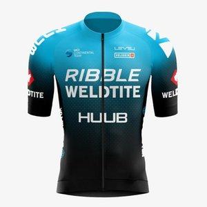 Yarış Setleri 2021 Huub Bisiklet Jersey Maillot Erkekler Bisiklet Suit Ribble Weldtite Bisiklet Gömlek Önlüğü Şort MTB Takım Giyim Ropa Ciclismo Özel