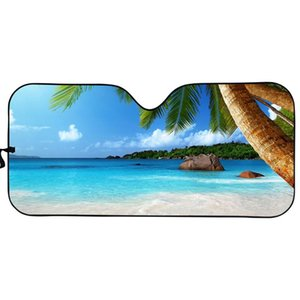 Car Sunshade Summer Auto Universal Sun Shade Coconut Tree Pattern Accesories Covers Prints On Demand Fit Most Cars