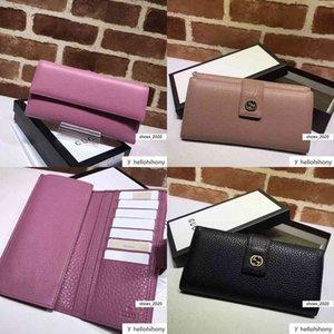 Celebrity Letter Metal Buckle Zipper wallet Cards Pack Cowhide Leather 337335 Long Purse Clutch