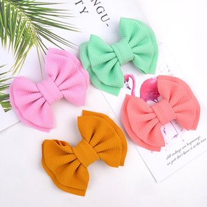 Cute Big Bow Hairband Baby Girls Toddler Kids Knotted Nylon Turban Head Wraps Hairpin Boutique Hair Accessories