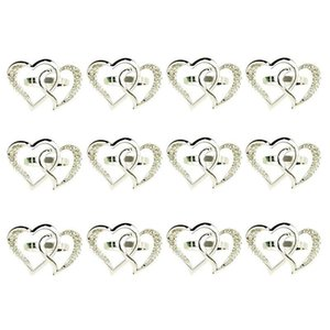 Pcs Love Heart-Shaped Napkin Ring,Wedding Buckle Metal Ring Holders For Wedding Dinner Table Display Rings