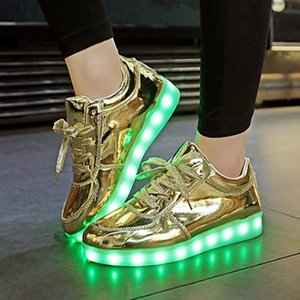 High quality color basket luminous sneakers unisex led shoes casual fashion size 36 to 45