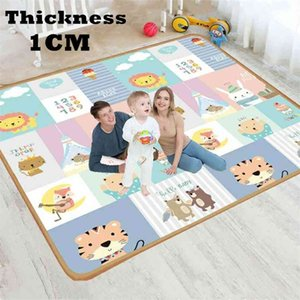 XPE 1cm Environmentally Friendly Thick Baby Crawling Play Mat Folding Carpet for Children's Safety Rug mat 210915