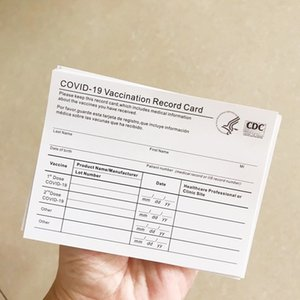 DHL Ready to ship Blank CDC Paper Vaccination Card 4*3 Inches Laminating Supplies Waterproof Protector Transparent PVC Sleeve Holder Bags