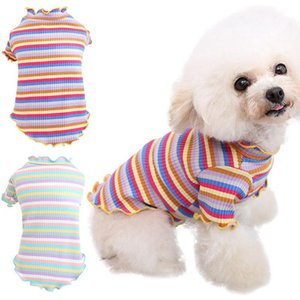 Fashion Pet Dogs Shirt Autumn And Winter Soft Clothes Thickening Bottom Small Medium For Chihuahua Warm T-shirt Dog Apparel